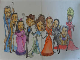 Corpse Bride Cast by DemonCartoonist