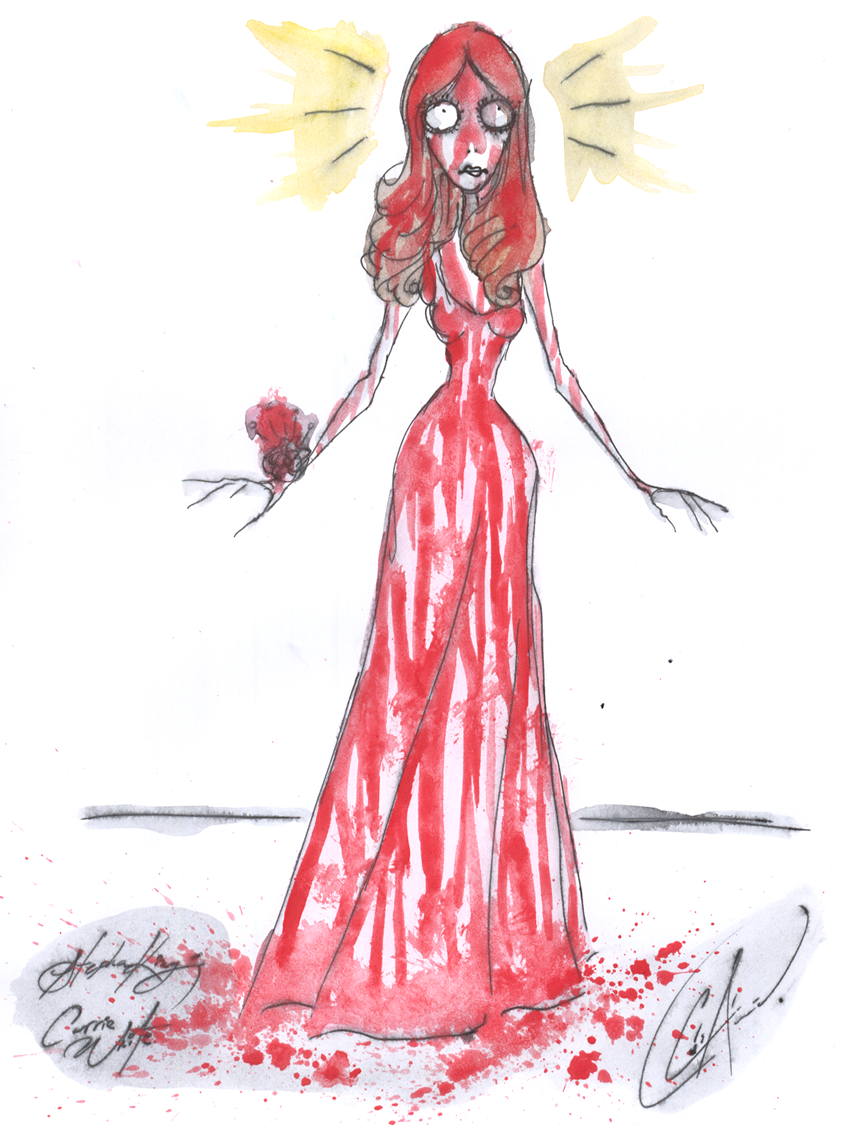 Carrie  White by DemonCartoonist