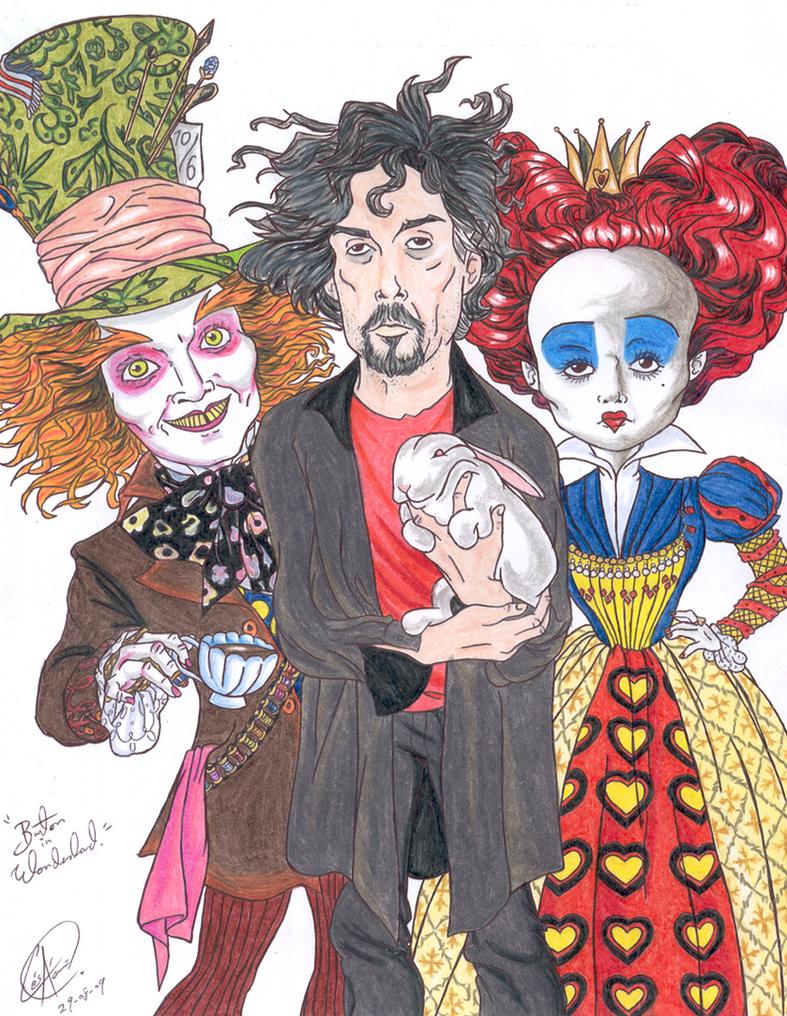 Burton  in  Wonderland by DemonCartoonist
