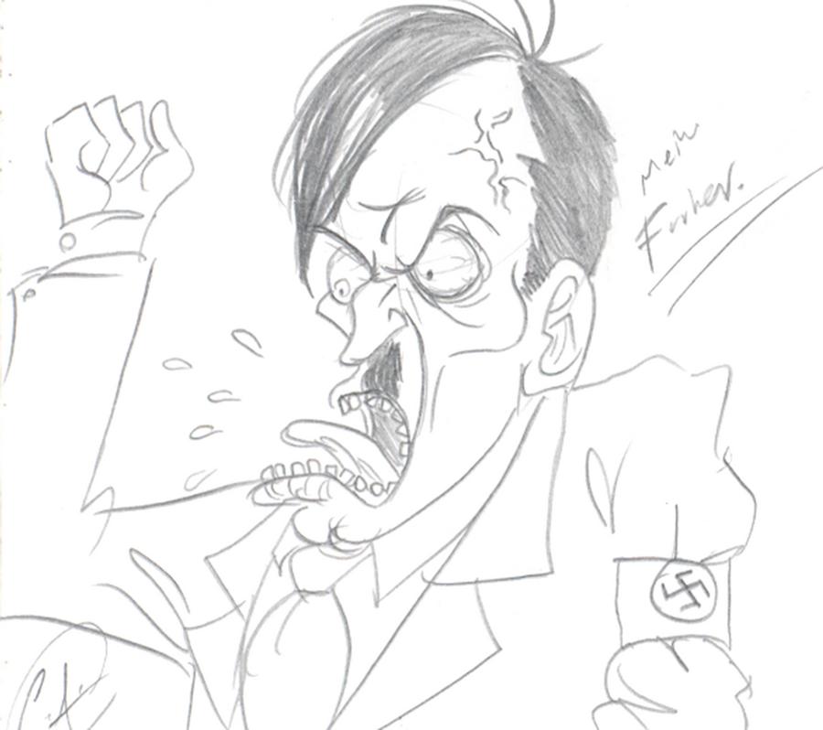 Hitler by DemonCartoonist