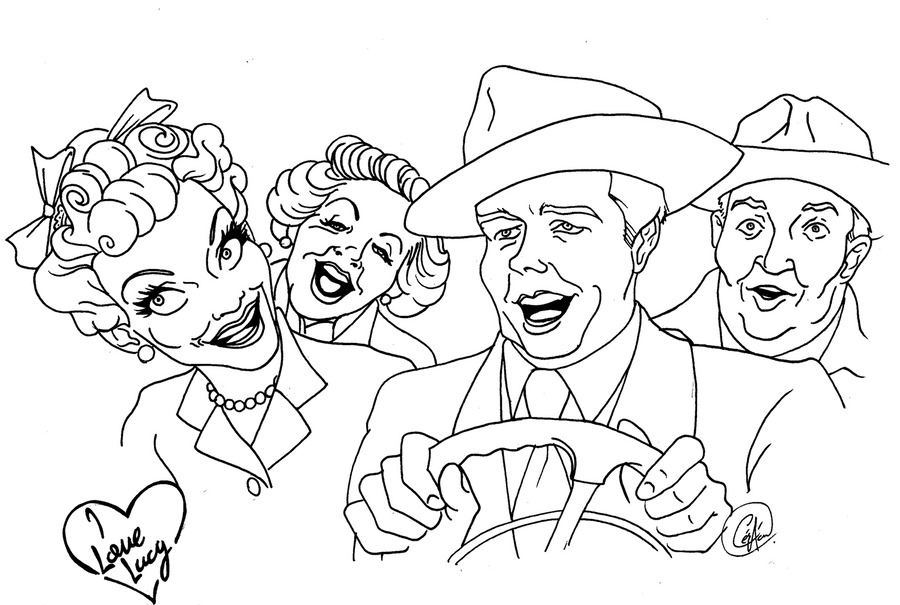Skins lucy coloring coloring pages for I love lucy coloring pages