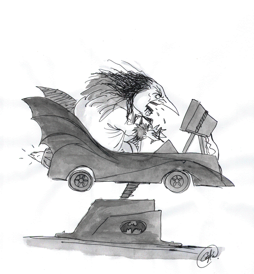 Oswald Cobblepot School of Driving by DemonCartoonist