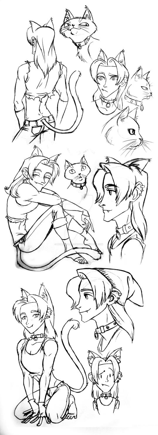 Stoker the Cat boy by DemonCartoonist