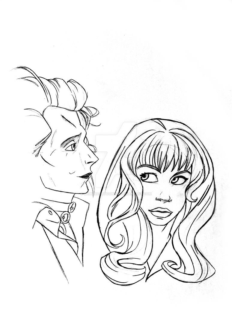 Edward and Kim by DemonCartoonist