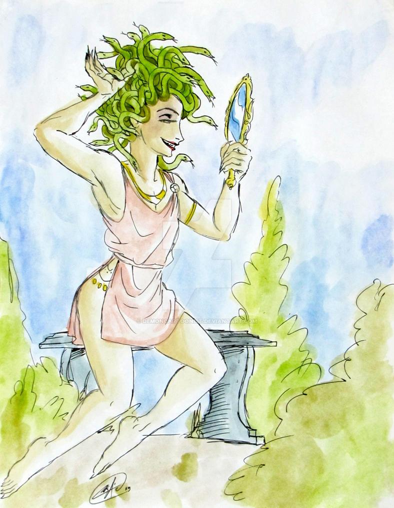 Medusa Narciso by DemonCartoonist