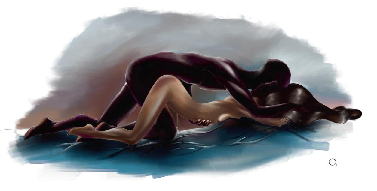 Interracial art drawings