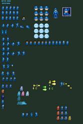 8-Bit Mega Man|Rockman Custom Sprites: Ver 2 by UniversalFoxes