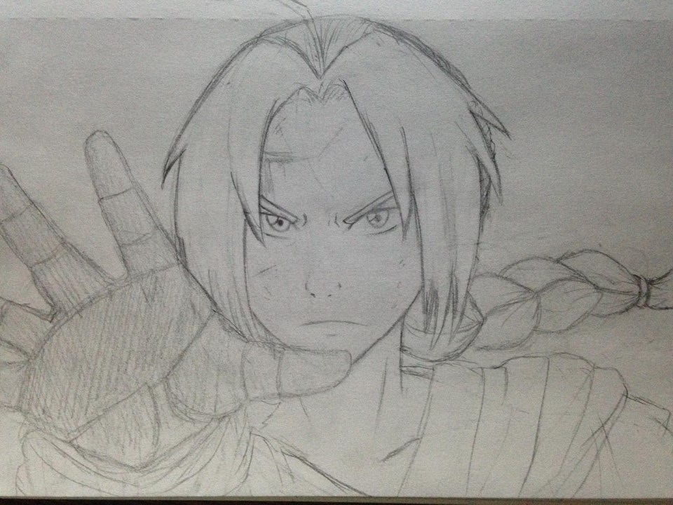 Edward Elric sketch by BubbleChii