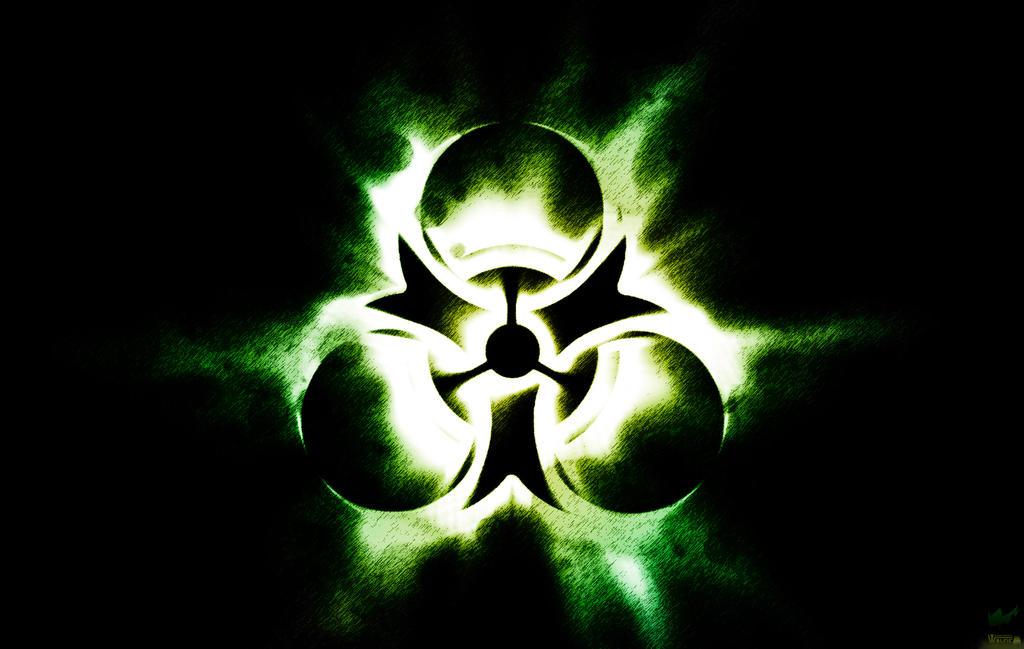 green biohazard wallpaper by graphicbrony on deviantart
