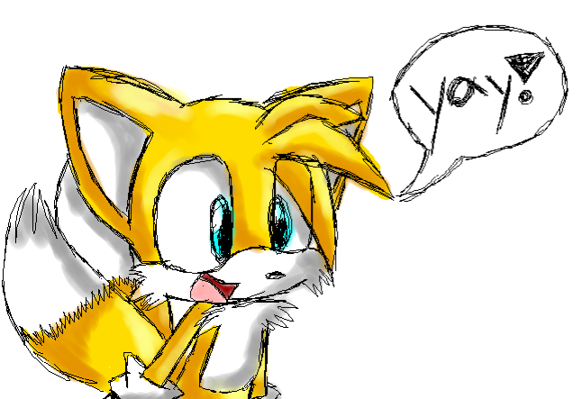 "Tails ""YAY"" by SonicsChilidog"
