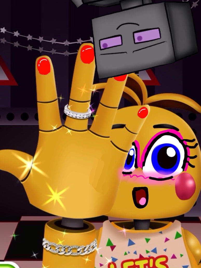 Mob squad fnaf toy chicas hand is so fabulous by nyancheyenne on