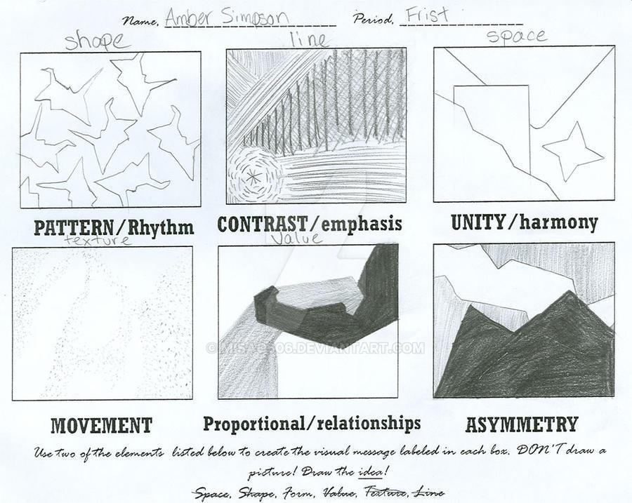 elements of art worksheet by misao606 on deviantart. Black Bedroom Furniture Sets. Home Design Ideas