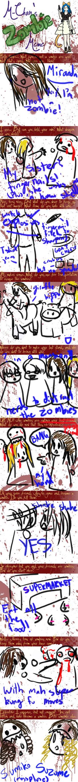 Zombie meme DONE MIRANDA STYLE by superiorcatgirl