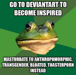 Foul Bachelor Frog by SymbioJoe