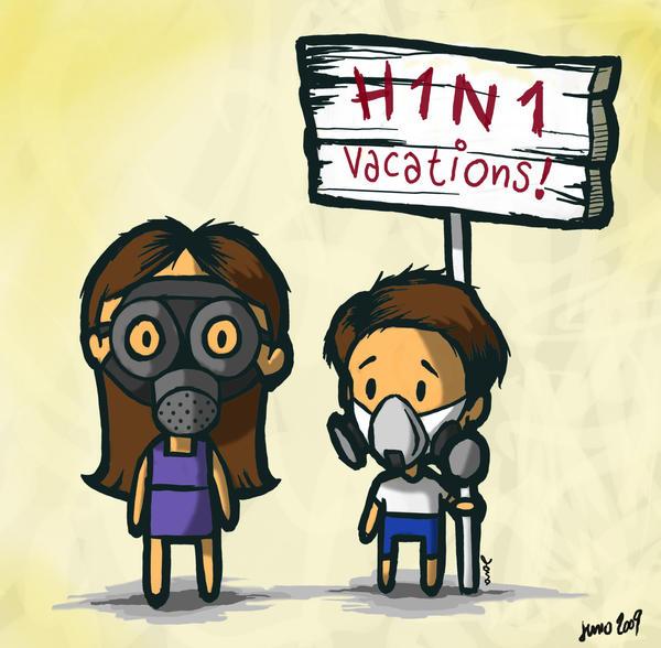 vacaciones H1N1 by Lindas-boy