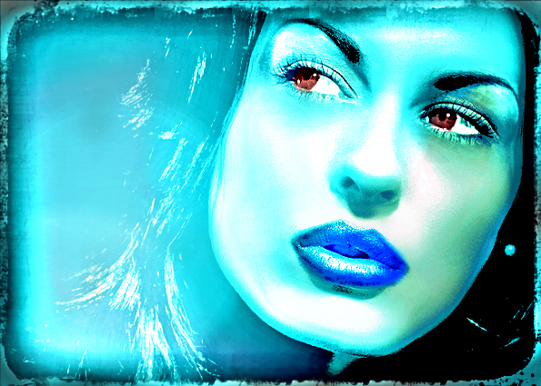 expression blue-vert by YOKOKY