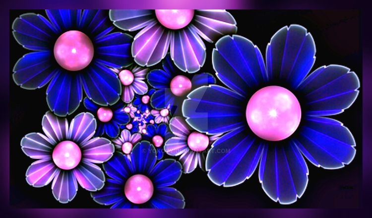 Abstract Flowers  by YOKOKY