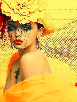 In Orange-yellow-my total makeup