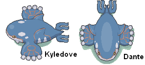 Frontal Kyledove's Kyogre by 19dante91