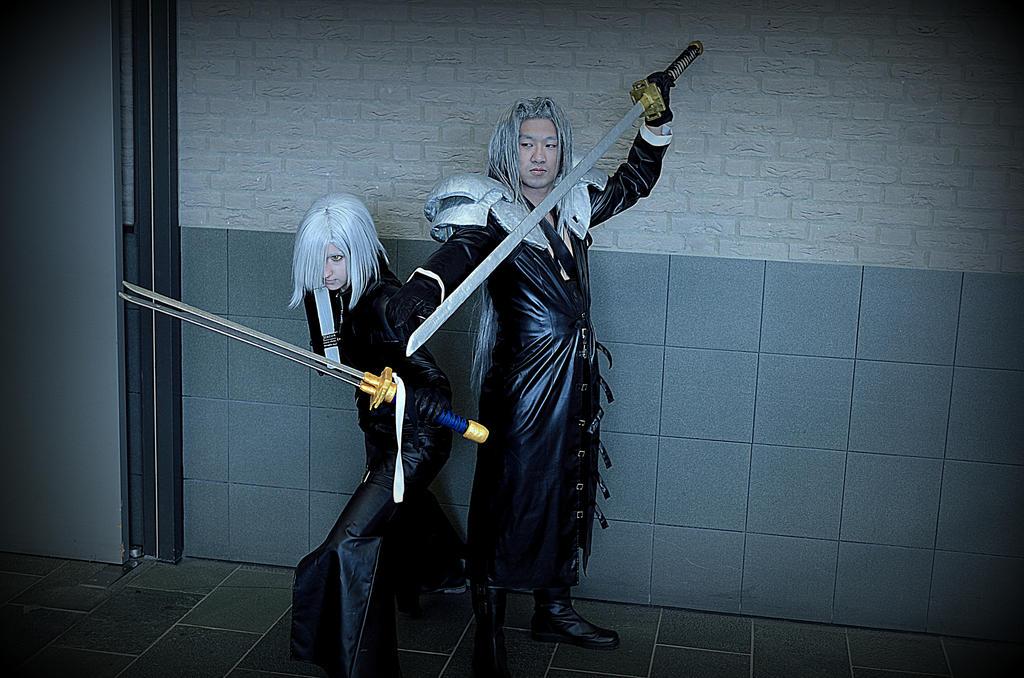 Sephiroth and Kadaj by UndercoverKadaj