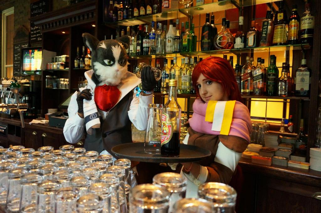 Serara and Nyanta - working at the bar by UndercoverKadaj