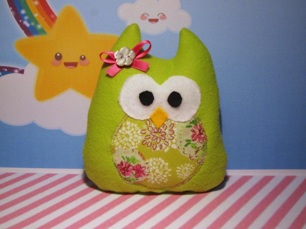 green owl plush by UndercoverKadaj