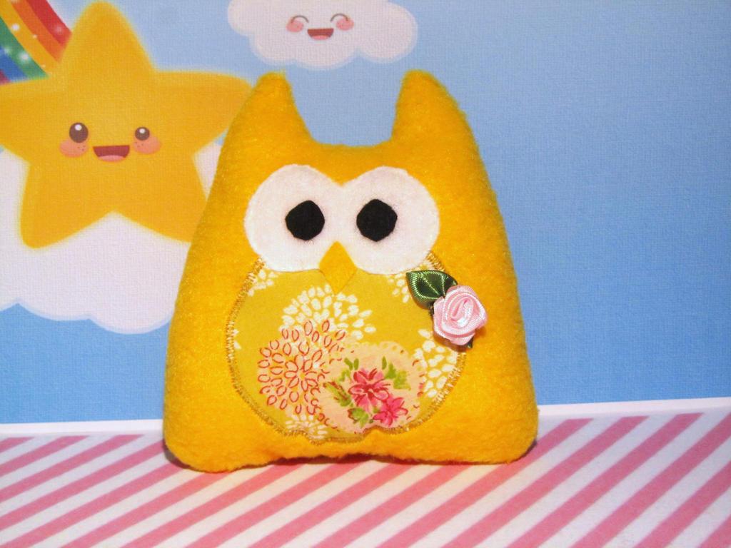 yellow owl plush by UndercoverKadaj
