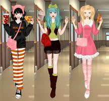 DBZ Girls by maiteen66
