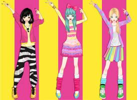DBZ Girlz by maiteen66