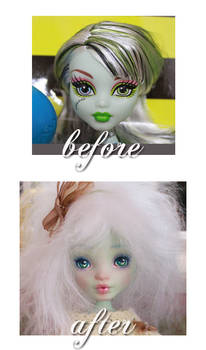 Cafuliett, her before and after look