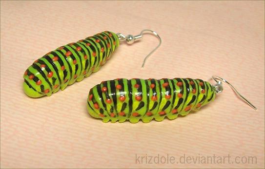 Caterpillar earrings by krizdole
