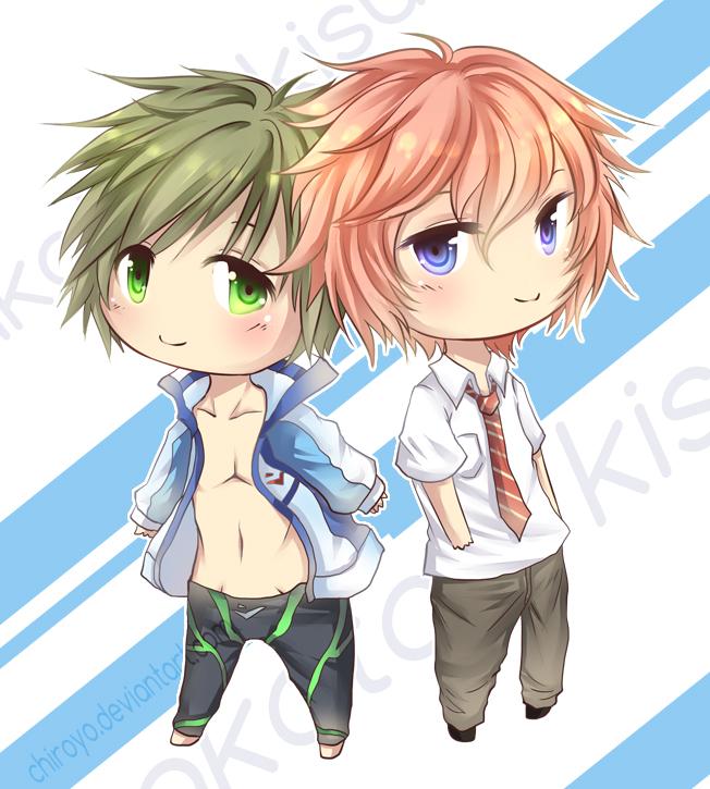 Commission [Makoto + Kisumi] by Chiroyo