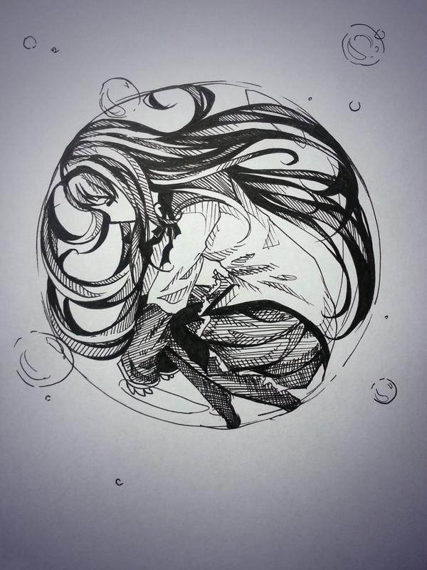 Inktober :: Akemi Homura by Chiroyo