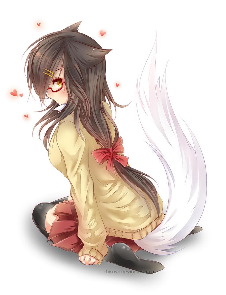 Schoolgirl Ahri by Chiroyo