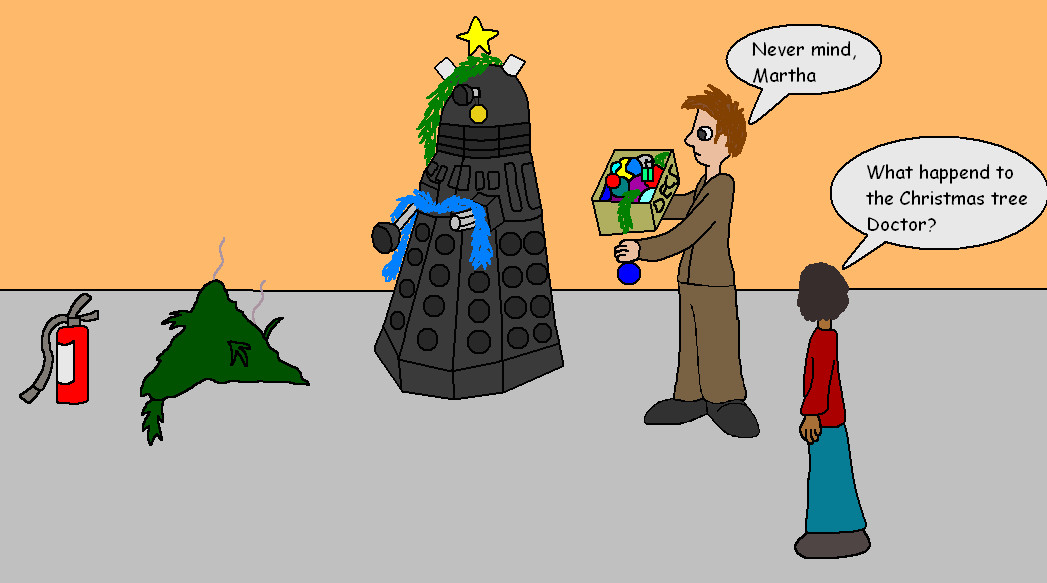 Team Who: Dalek Christmas tree by Alondra-chui on DeviantArt
