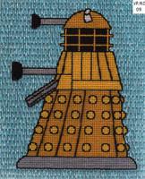 Dalek fiberart by Alondra-chui