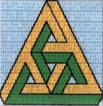 Fiberart: Impossible triangle