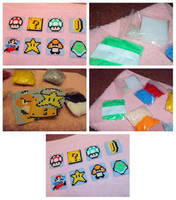 Mario magnets kit by Alondra-chui