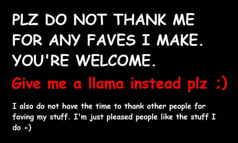 do not thank me for faves