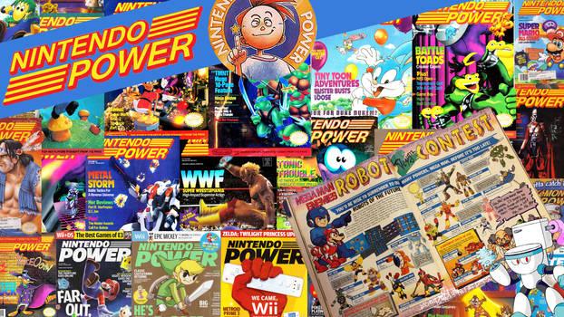 Nintendo Power collaged desktop