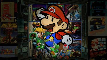 Nintendo desktop collage