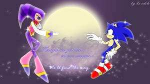 Sonic meets Nights by bs-odile