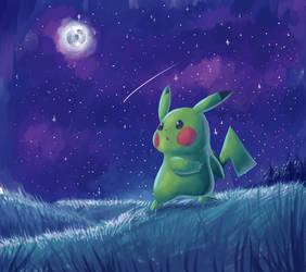 Pikachu At Night