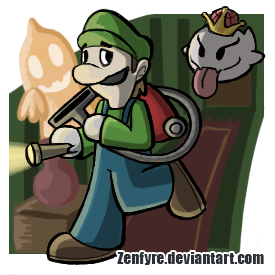 Brawl Stickers - Luigi by Zenfyre