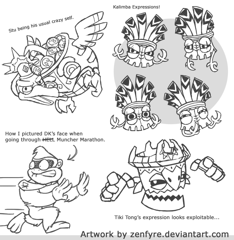 Donkey Kong Country Tiki Coloring Pages Coloring Pages