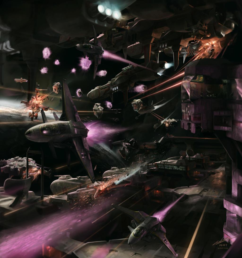 Harbor Raid by godwinfj