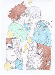 Sora Riku Deep Kiss colored