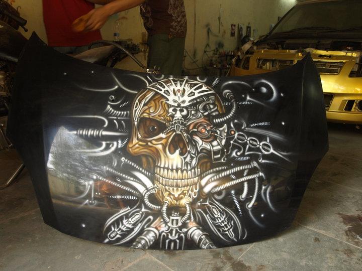 biomech skull hood by Inkstertattoo on deviantART