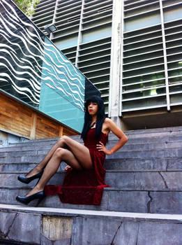 Red Dress TGirl 01 - LightningTV