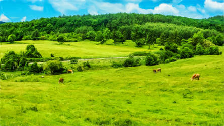 Countryside with cattle - revisited